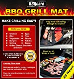 BBQ GRILL MAT SET OF 2 - #1 BEST SELLING PREMIUM GRILL MAT - EASY TO BAKE FOOD - BONUS NON-STICK PRODUCT - NO CLEANING - SAVES MONEY AND TIME - ORDER NOW