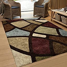 Orian Rugs Geometric Oval Day Multi Area Rug (5\'3\