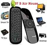 57B Air Mouse Keyboard, Remote Control, Fly Mouse with Yongf 2.4G Wireless Keyboard for Android TV Box, Smart TV, PC, Laptops, Desktop, Projector and Media Player (Color: 57B Air Mouse)