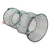 Jmkcoz 1PC Crab Trap Crawfish Lobster Shrimp Collapsible Cast Net Fishing Nets 25cm x 45cm