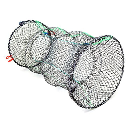 Jmkcoz 1pc crab trap crawfish lobster shrimp collapsible for Throw nets for fishing