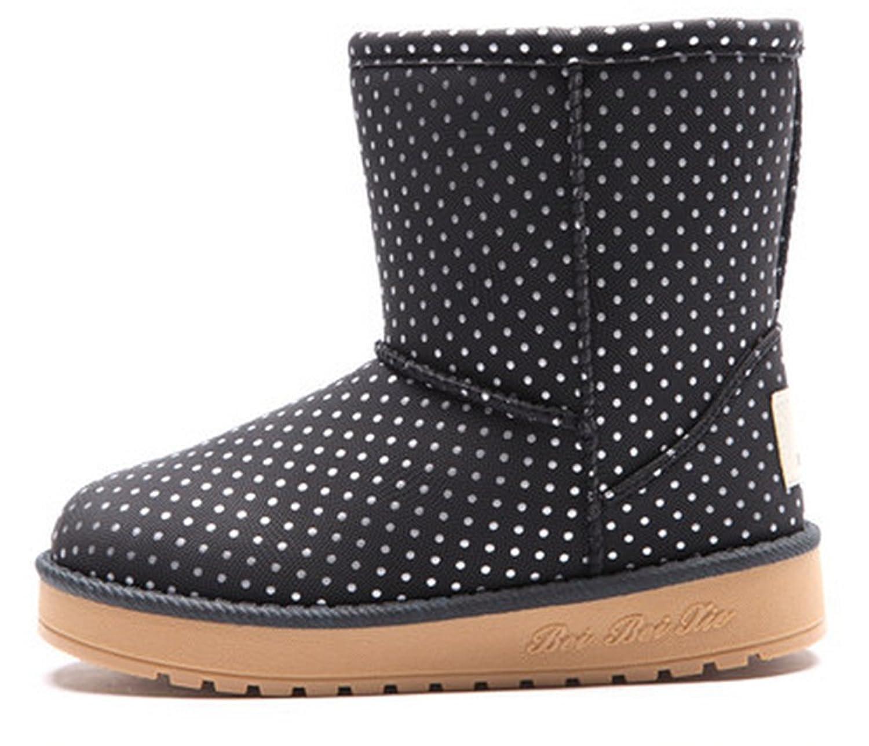 Niedliche Polka-Punkt Winter warm Anti-Rutsch Stiefel snow boots/Schneestiefel Kinder-Schneeschuhe Jungen Stiefel Mädchenbaumwollstiefel Kinder warmen stiefel Fashion Kinder Schuhe jetzt bestellen