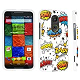 DuroCase ® Motorola Moto X 2nd Gen. 2014 Hard Case White - (Comic)