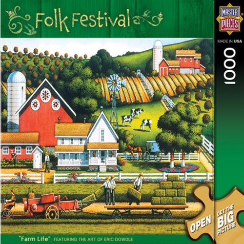 MasterPieces Farm Life 1000 Piece Puzzle Folk Festival Collection