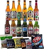 FREE Delivery - 12 Lagers from Around the World with Bar Snacks Hamper