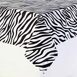 Amazon Com Black And White Zebra Stripe Table Cloth 60