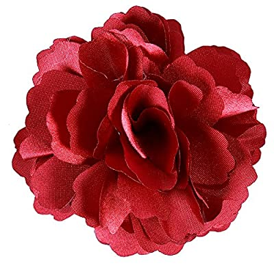 Anleolife 6pcs/lot Fabric Flower Hair Clips,Flower Corsage Brooch Pins,Women Flower Headwear Wedding Party Gift