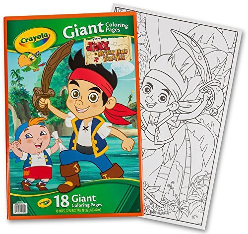 Crayola Disney Jake & The Never Land Pirates Giant 18 Pages Coloring Book