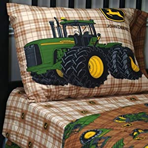 Amazon Com John Deere Traditional Brown Plaid Bedding