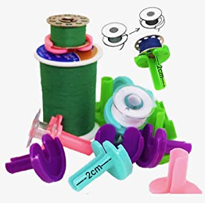 PeavyTailor Bobbin Buddies 64 pcs Keep Bobbin Threads Matched Up with Thread Spools 60