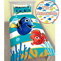 Finding Nemo Dory Single/US Twin Panel Duvet Cover and Pillowcase Set