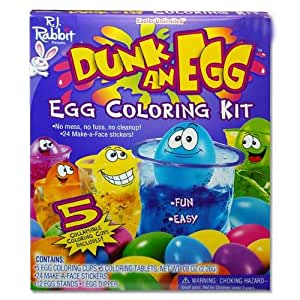 Amazon.com: Dunk An Egg Easter Egg Decorating Coloring Kit ...