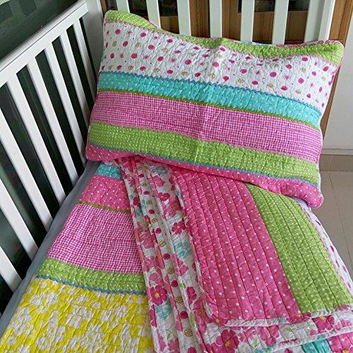 Brandream Twin Full Queen Size Pink Polka Dot Stripe