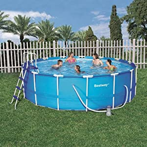 Bestway 15 foot by 48 inch steel pro round for 15 ft garden pool