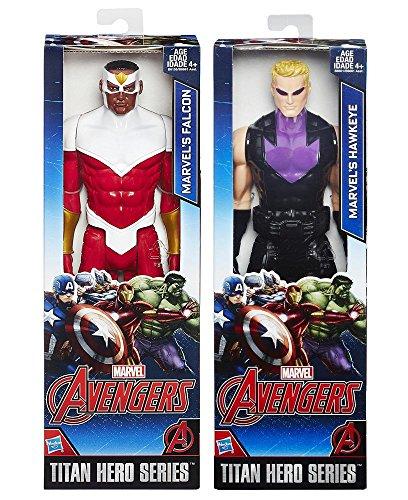 Marvel Titan Hero Series Avengers HAWKEYE VS Falcon Avengers Action Figure Moveable Series