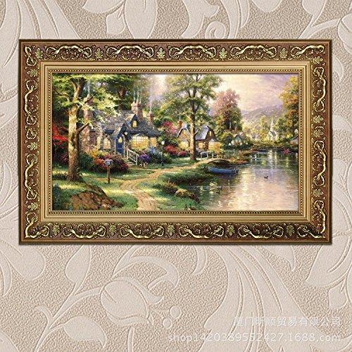 stile-europeo-decorativa-paesaggio-dipinto-ad-olio-home-hotels-club-disegnare-portico-di-camera-da-l