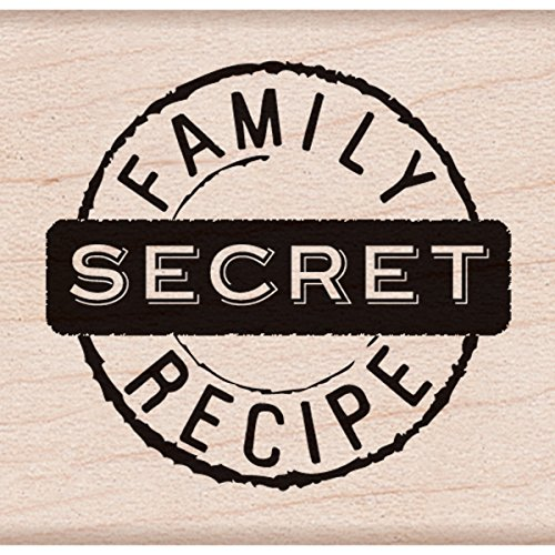 "Hero Arts Secret Family Recipe Mounted Rubber Stamp, 1.5"" by 1.75"""