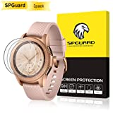[3 Pack] SPGuard Compatible Samsung Galaxy Watch (42mm) Screen Protector, Tempered Glass 2.5D Arc Edges 9H HD Scratch Resistant Screen Protector for Galaxy Watch SM-810/SM-R815 (Color: 42mm, Tamaño: 42 mm)