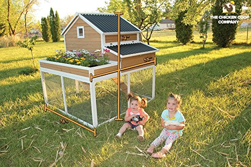 Garden Girls Chicken Coop with raised bed garden! The Chicken Coop Company specializes in Chicken Huts and quality Coops. (Urban Coop Company compare prices)