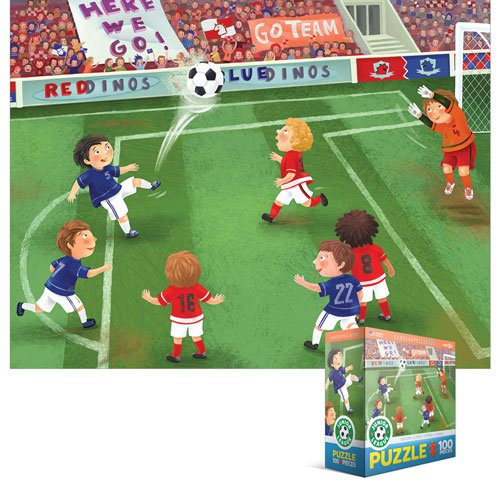 EuroGraphics 8100-0483 Soccer Junior League 100-Piece Puzzle (Small Box) - 1