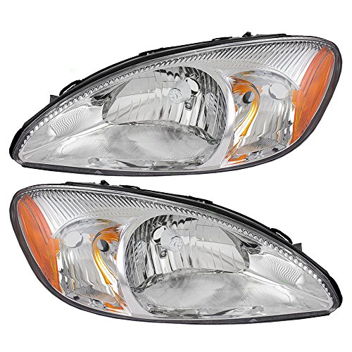 driver-and-passenger-headlights-headlamps-with-chrome-bezel-replacement-for-ford-1f1z13008ab-1f1z130
