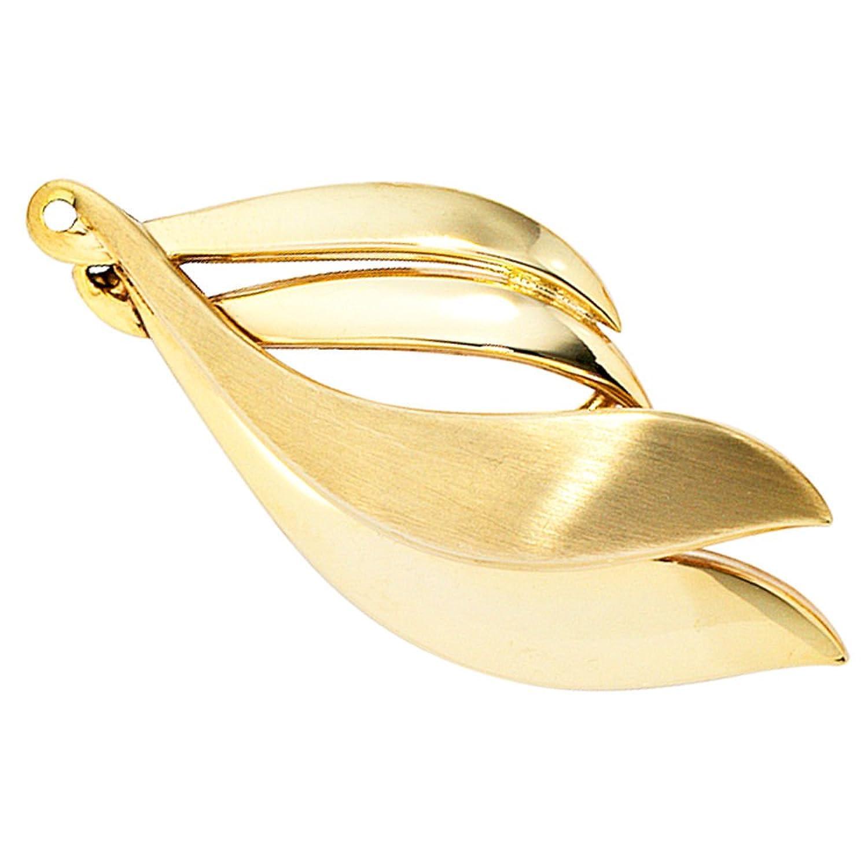 Damen Gold Brosche 333 Gold Gelbgold teilmattiert jetzt bestellen