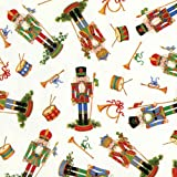 Entertaining with Caspari Holiday Gift Wrapping Paper Roll, Nutcrackers, 1-Roll