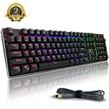 Mechanical Keyboard, E-element RGB Backlit 104 key Wired Gaming Keyboard With Blue Switches (Black)