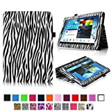 Fintie Slim Fit Folio Case Cover for Samsung Galaxy Note 10.1 inch Tablet N8000 N8010 N8013 - Zebra Black