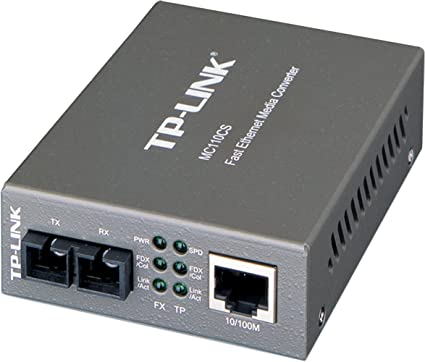 TP-Link MC110CS Convertisseur RJ45 10/100Mbps / Fibre Optique Monomode 20Kms