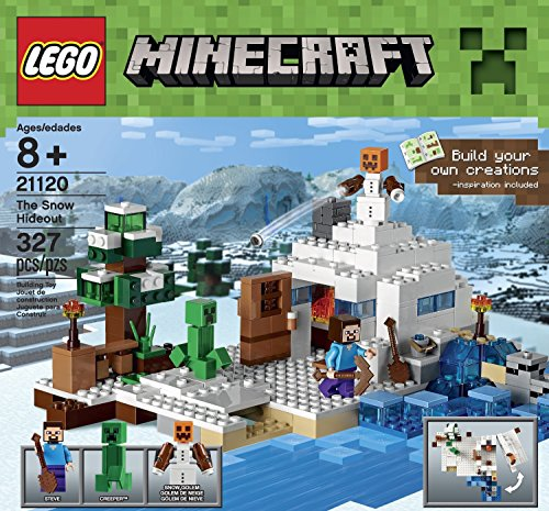 Minecraft LEGO 327 PCS the Snow Hideout Brick Box Building Toys
