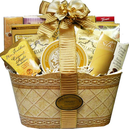 Wedding Gift Price Guide : Appreciation Gift Baskets Golden Elegance Gourmet Food Set Check Price ...