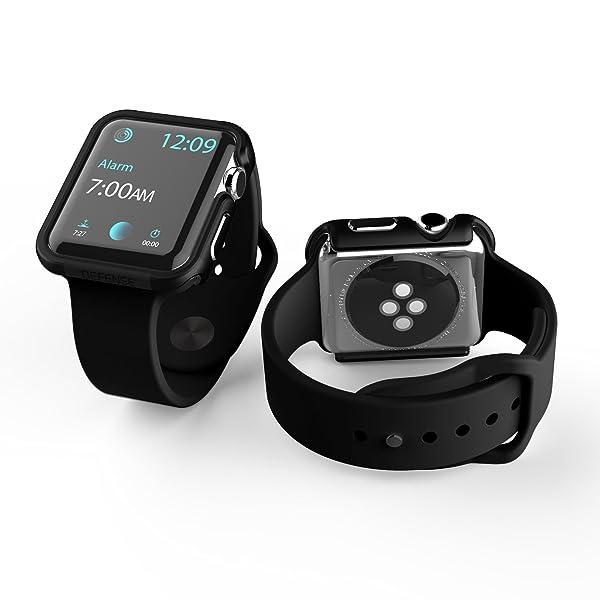 42mm Apple Watch Case, X-Doria Defense Edge Premium Aluminum & TPU Bumper Frame for 42mm Apple Watch, Black/Black (Color: Black/Black)