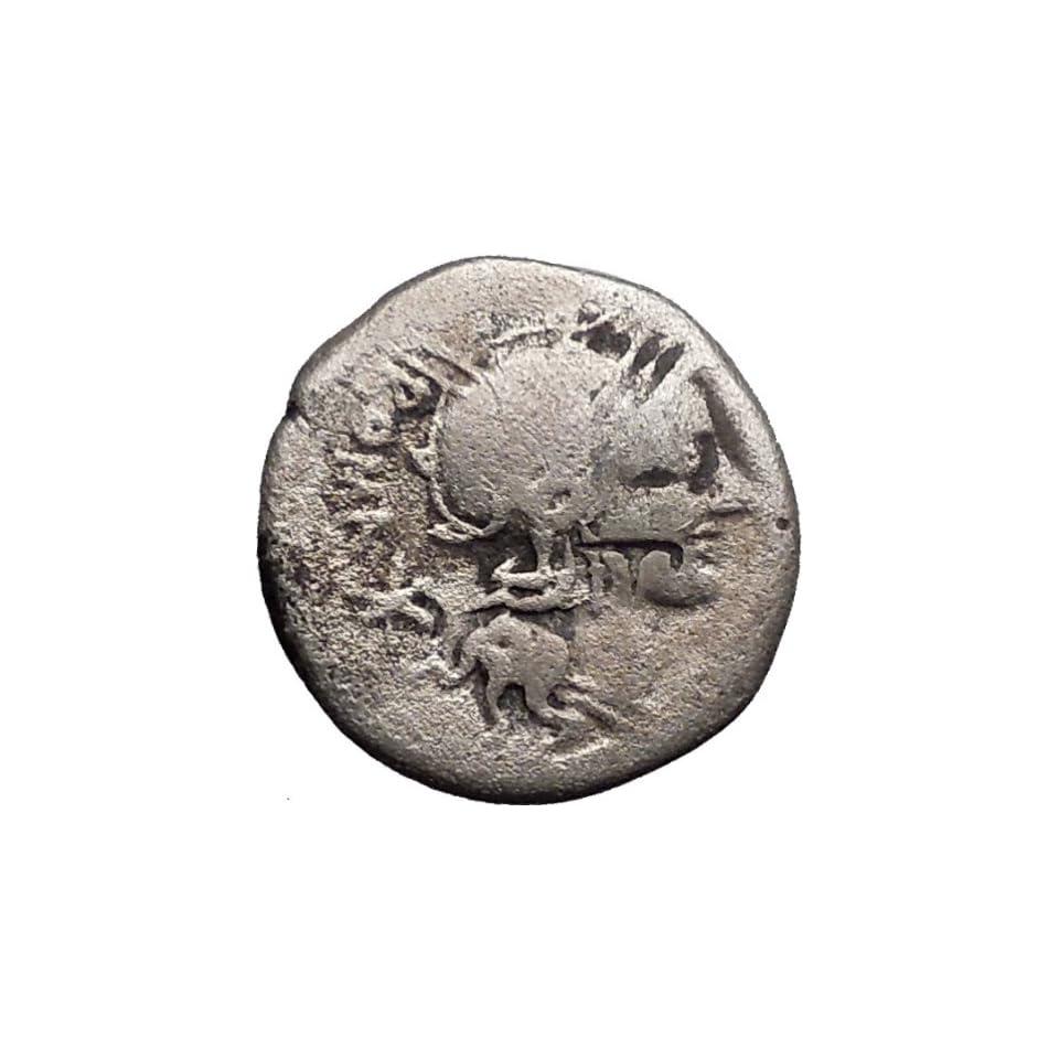 Roman Republic Sergius Silus 116BC Ancient Silver Coin ROMA Cult Horse i30787