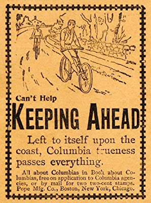 1893 Ad Pope Columbia Antique Bicycles Bike Cycling Biking Physical Exercise - Original Print Ad