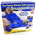 Adult snuggle wrap blanket with sleev...