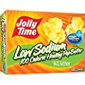 Jolly Time Low Sodium Healthy Pop Butter - 100 Calorie Microwave Popcorn Mini Bags, 4-Count Boxes, 4.8 oz, (Pack of 12) by Jolly Time