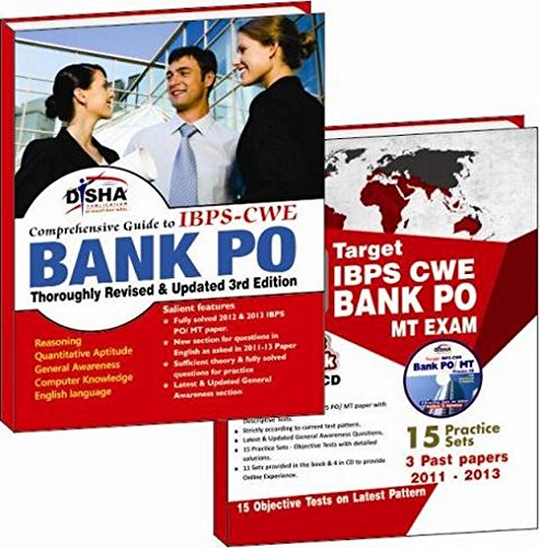 IBPS-CWE Bank PO (3 past papers 2011-2013) Simplified Guide + 15 Practice Sets (with CD)