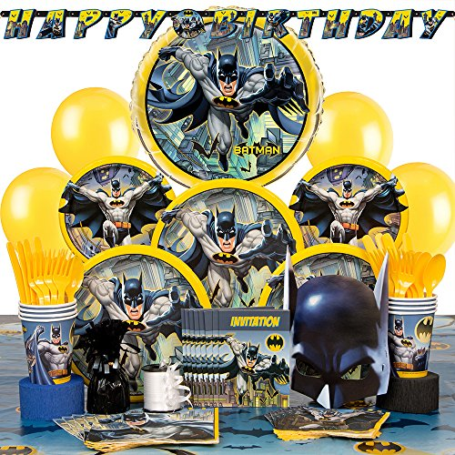 Deluxe Batman Party Supplies Kit for 8 (Batman Supplies compare prices)