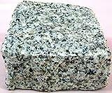 [25個セット/約0.25平米施工分]建材石材花崗岩敷石白御影石ピンコロgtp02-25p