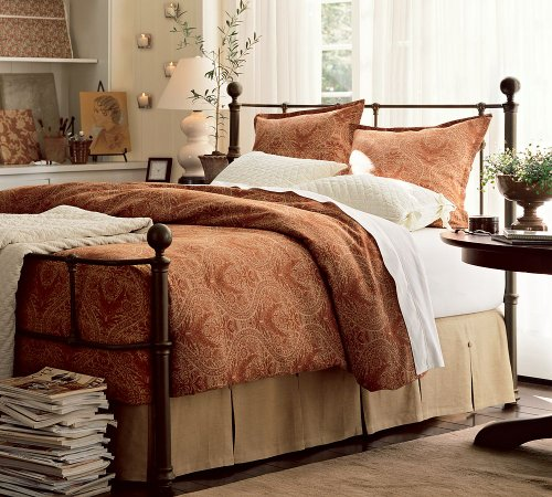 iron and brass beds online stores queen pottery barn mendocino iron bed. Black Bedroom Furniture Sets. Home Design Ideas