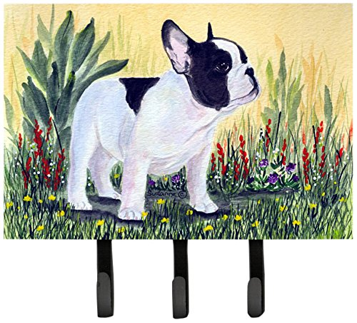 Caroline's Treasures SS8109TH68 French Bulldog Leash Holder or Key Hook, Large, Multicolor (French Bulldog Key Rack compare prices)