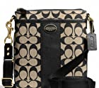 COACH Legacy Swingpack in Printed Signature Fabric & Leather in Khaki / Black 50496