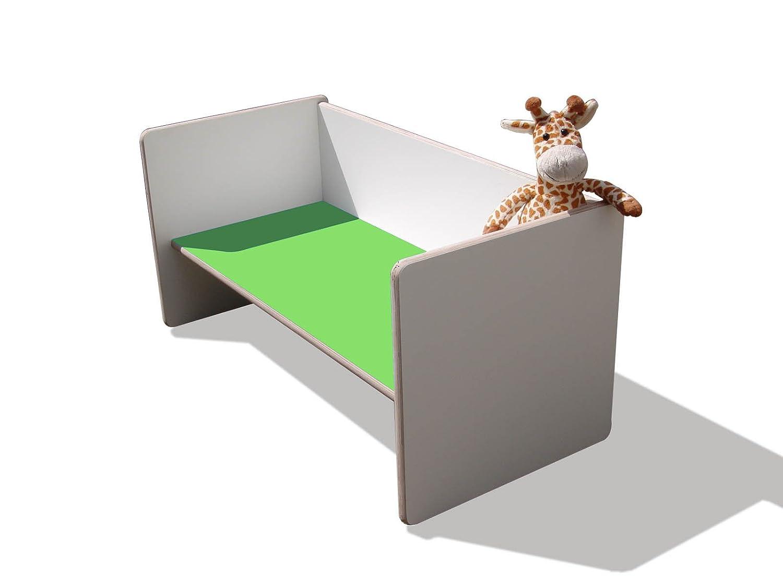 Kinder Wendetisch/Bank – weiß mit grüner Sitzfläche, sehr stabil