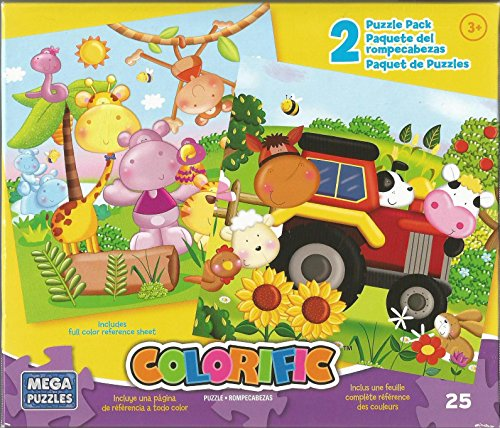 Colorific Rompecabezas Farm Animals & Jungle Jigsaw Puzzle