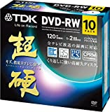 TDK 録画用DVD-RW CPRM対応 1-2倍速対応 ホワイトワイドプリンタブル キズや指紋ヨゴレに強いスーパーハードコート・ディスク 「超硬」シリーズ 10枚パック DRW120HCDPWA10A
