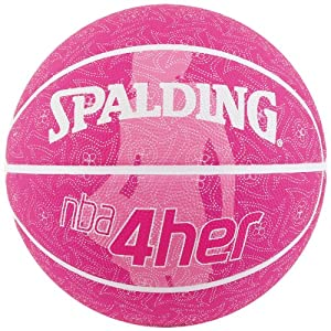 Spalding NBA 4 Her Outdoor Basketball, Size 7 (Pink)