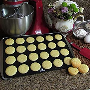 Silicone Cupcake Molds, Le Poele, for Baking, 24 Cups Mini Muffin Pan. BPA Food Grade Silicone, Non-stick, Easy to Clean. Dishwasher, Freezer and Microwave Safe.