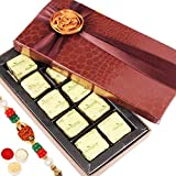Rakhi Gifts Sweets- Small Brown 10 Pc Mewa Bite Box - R7
