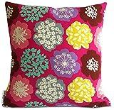Mia & Stitch Mia & Stitch Square Floral Cushion Covers, 20 , Pink